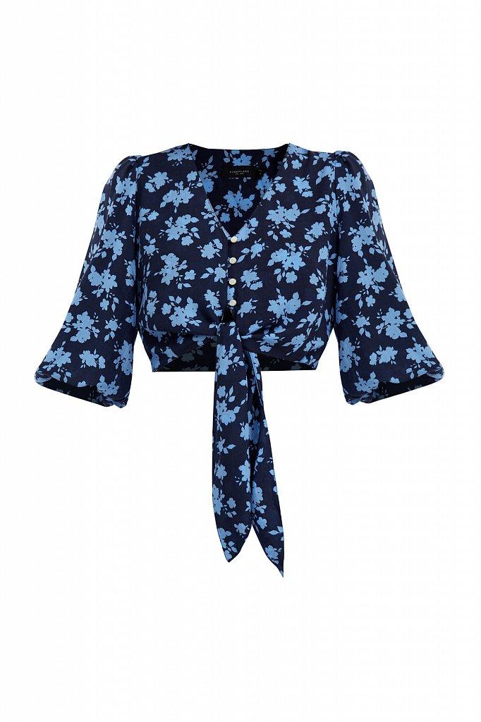 Короткая блуза с цветочным принтом, Модель S21-12020, Фото №7