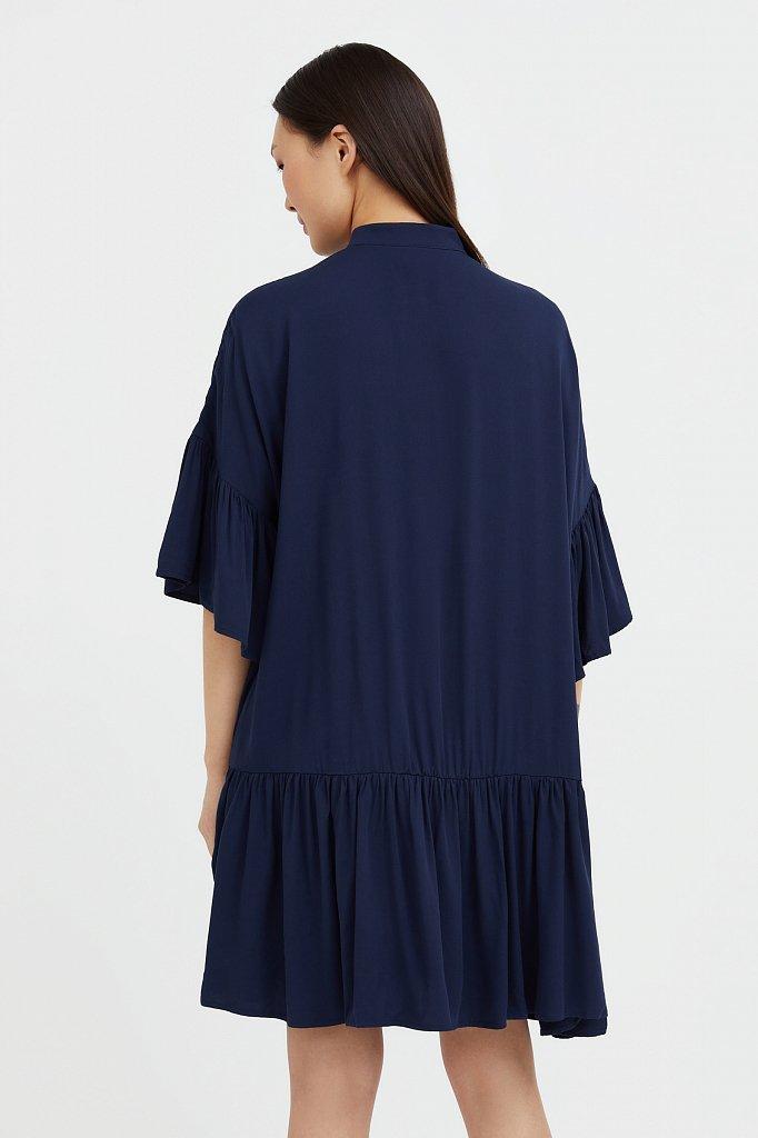 Свободное платье с асимметричными воланами, Модель S21-12023, Фото №4