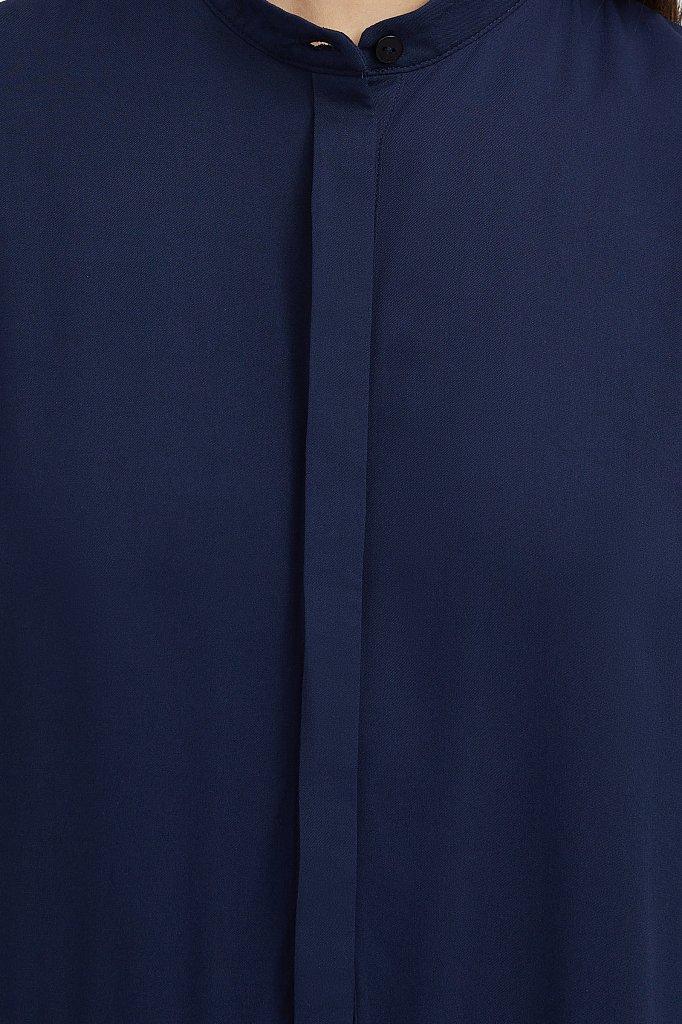 Свободное платье с асимметричными воланами, Модель S21-12023, Фото №5