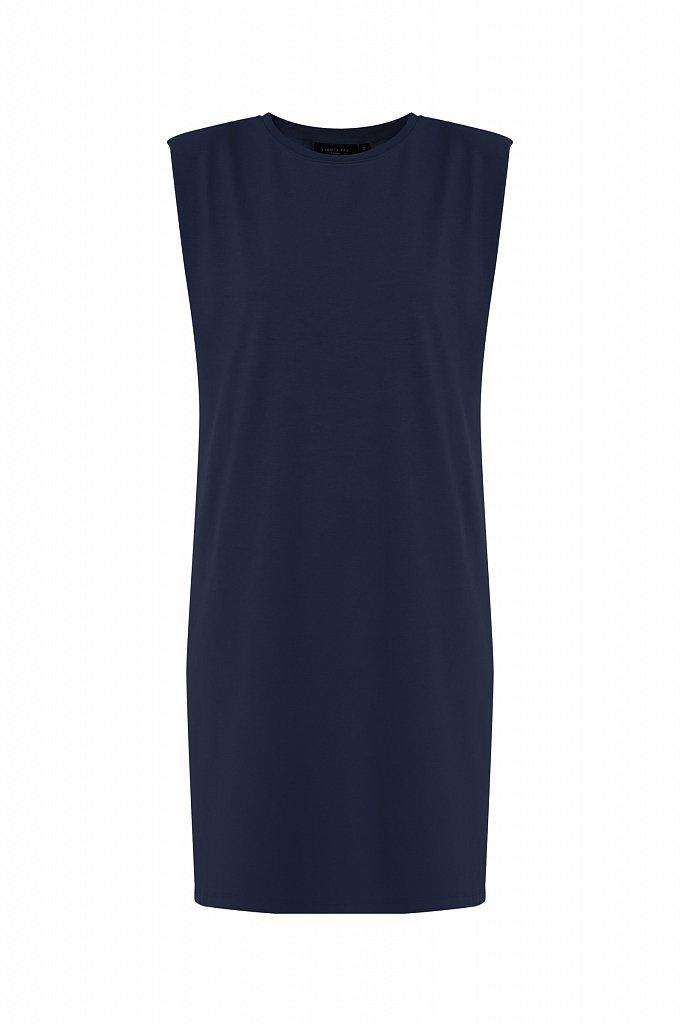 Хлопковое платье без рукавов, Модель S21-12091, Фото №7