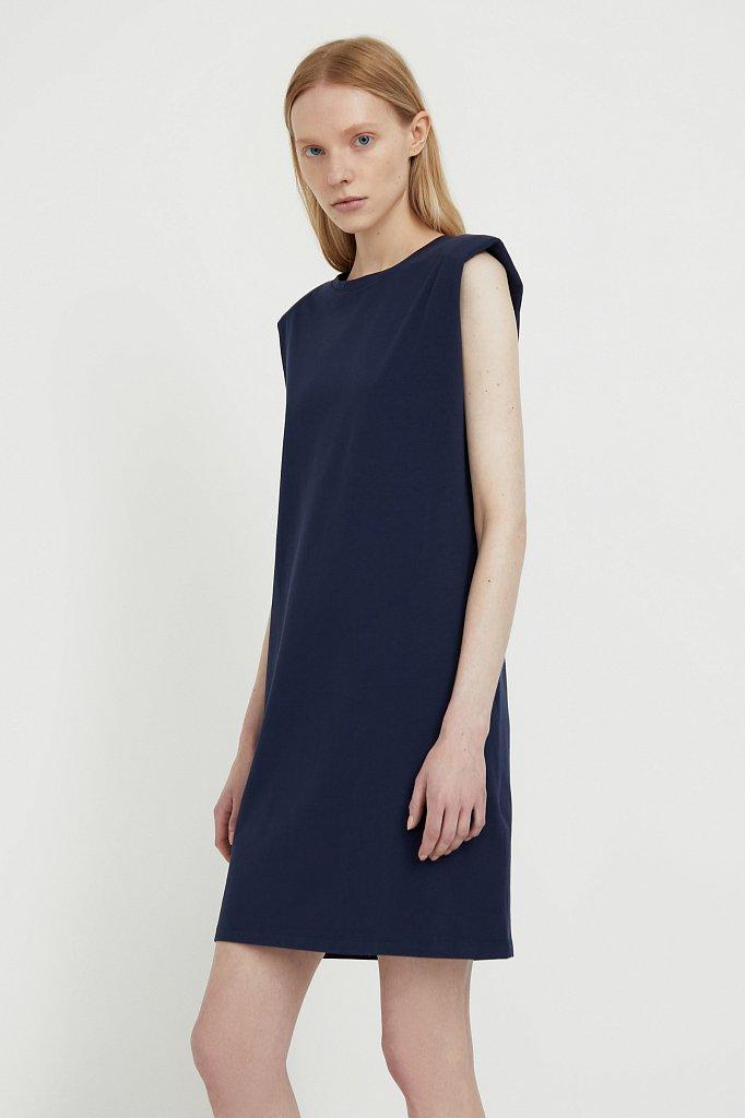 Хлопковое платье без рукавов, Модель S21-12091, Фото №3