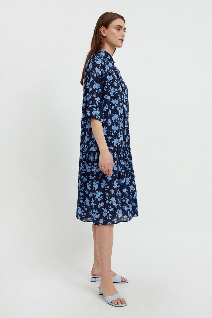 Свободное платье с цветочным принтом, Модель S21-12096, Фото №3