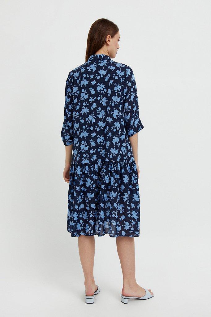Свободное платье с цветочным принтом, Модель S21-12096, Фото №4