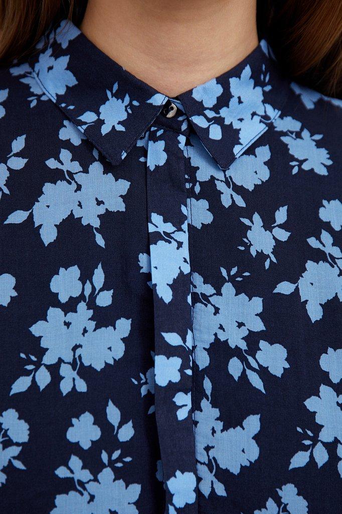 Свободное платье с цветочным принтом, Модель S21-12096, Фото №5