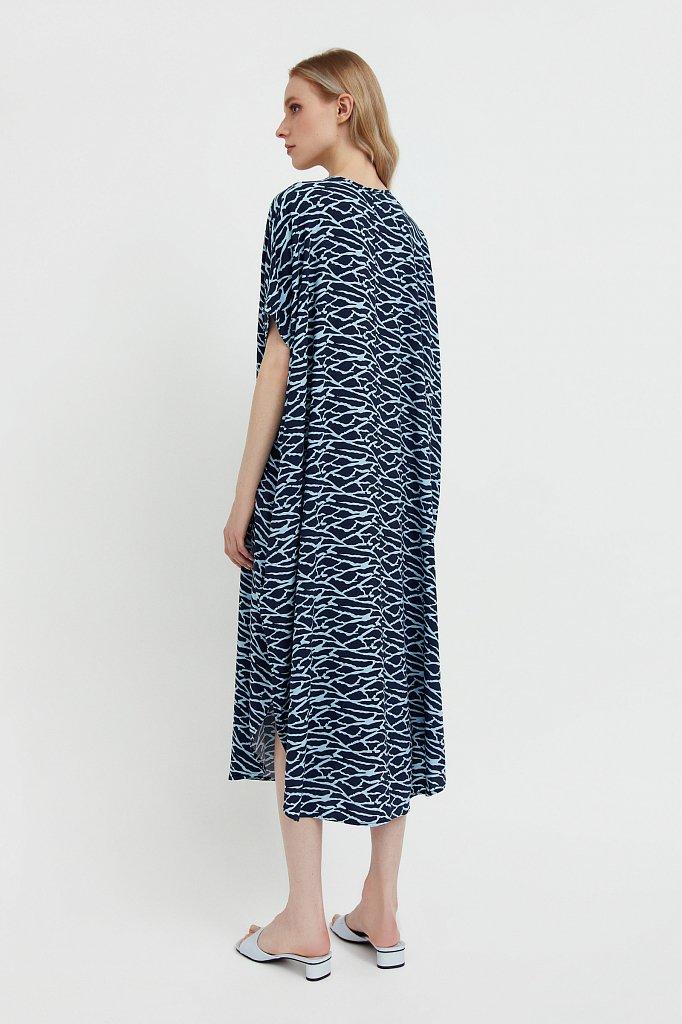 Свободное платье с принтом и завязками, Модель S21-14000, Фото №4