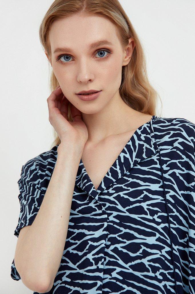 Свободное платье с принтом и завязками, Модель S21-14000, Фото №6