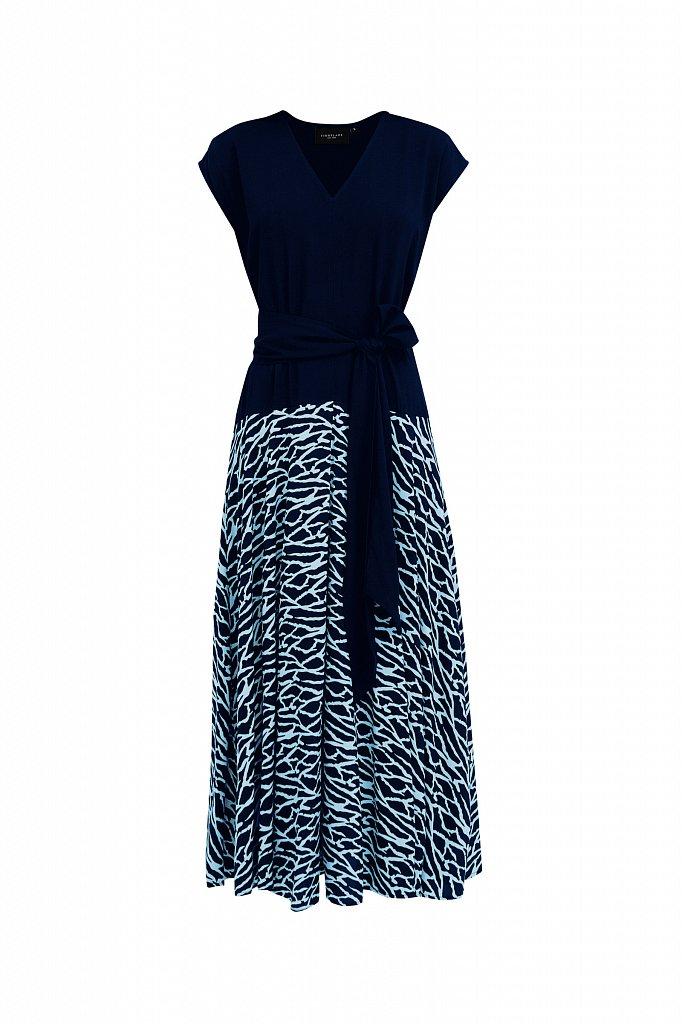 Комбинированное платье из вискозы, Модель S21-14003, Фото №7