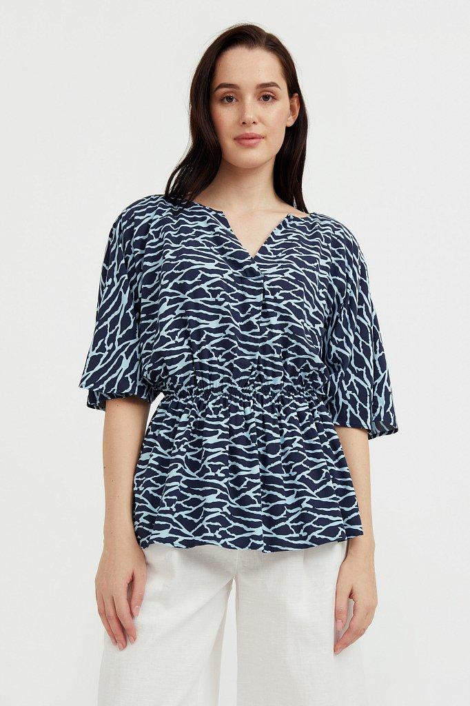 Блуза с принтом, Модель S21-14004, Фото №2
