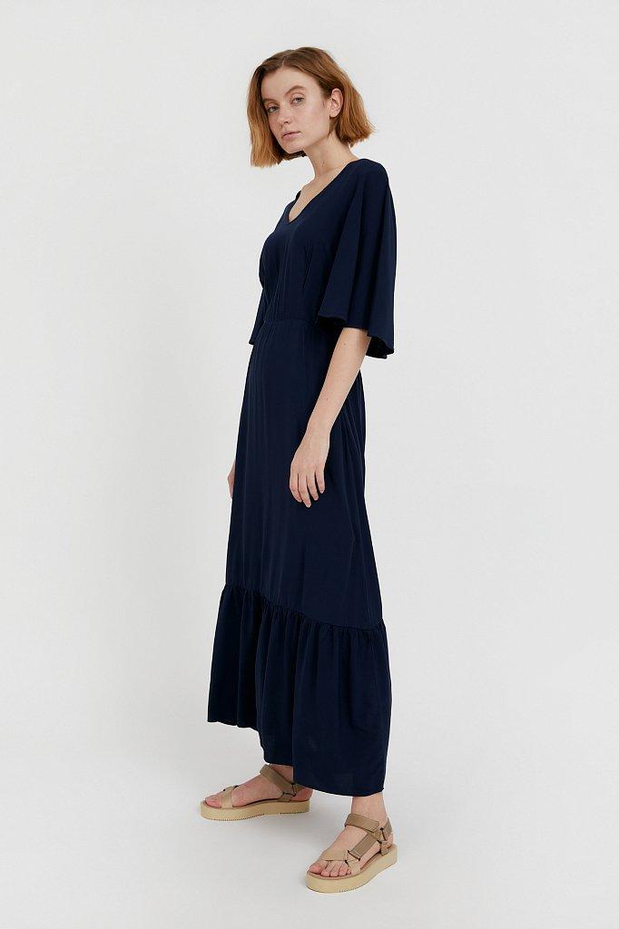 Платье макси из вискозы, Модель S21-14009, Фото №2