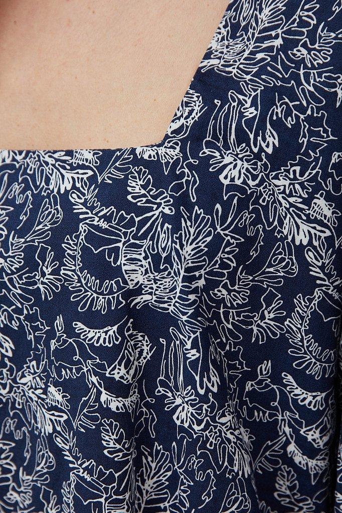 Хлопковое платье с поясом, Модель S21-14044, Фото №5