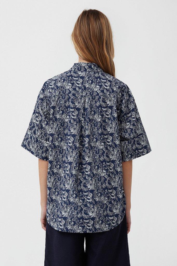 Хлопковая блуза с принтом, Модель S21-14046, Фото №4