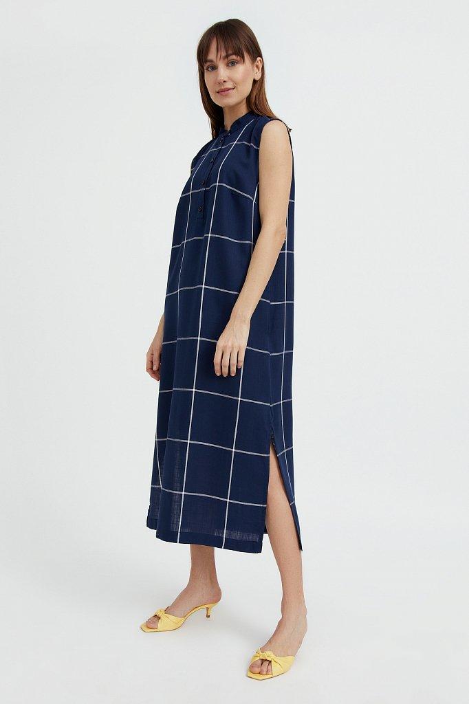 Платье прямого кроя в крупную клетку, Модель S21-14051, Фото №3