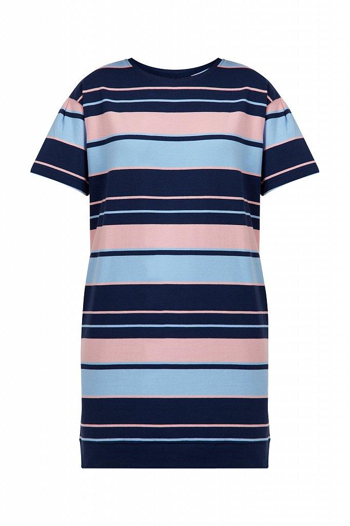 Хлопковое платье в полоску, Модель S21-14052, Фото №7