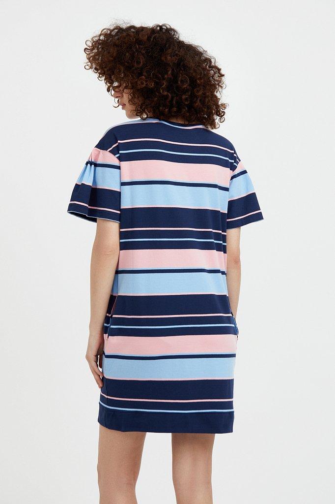 Хлопковое платье в полоску, Модель S21-14052, Фото №4