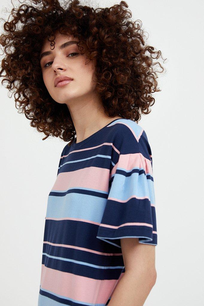 Хлопковое платье в полоску, Модель S21-14052, Фото №6