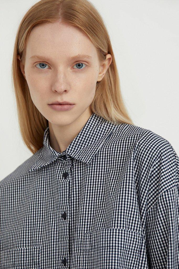Хлопковая рубашка в клетку, Модель S21-14053, Фото №6