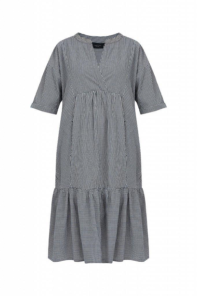 Свободное платье в клетку, Модель S21-14056, Фото №7