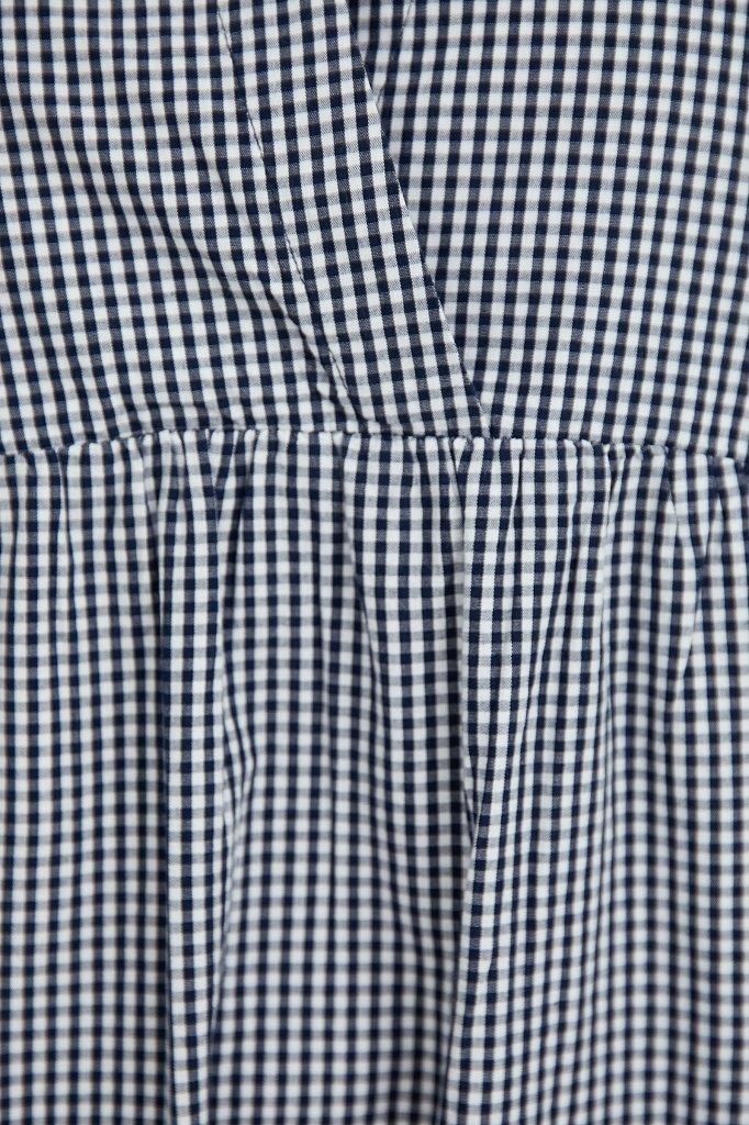 Свободное платье в клетку, Модель S21-14056, Фото №5