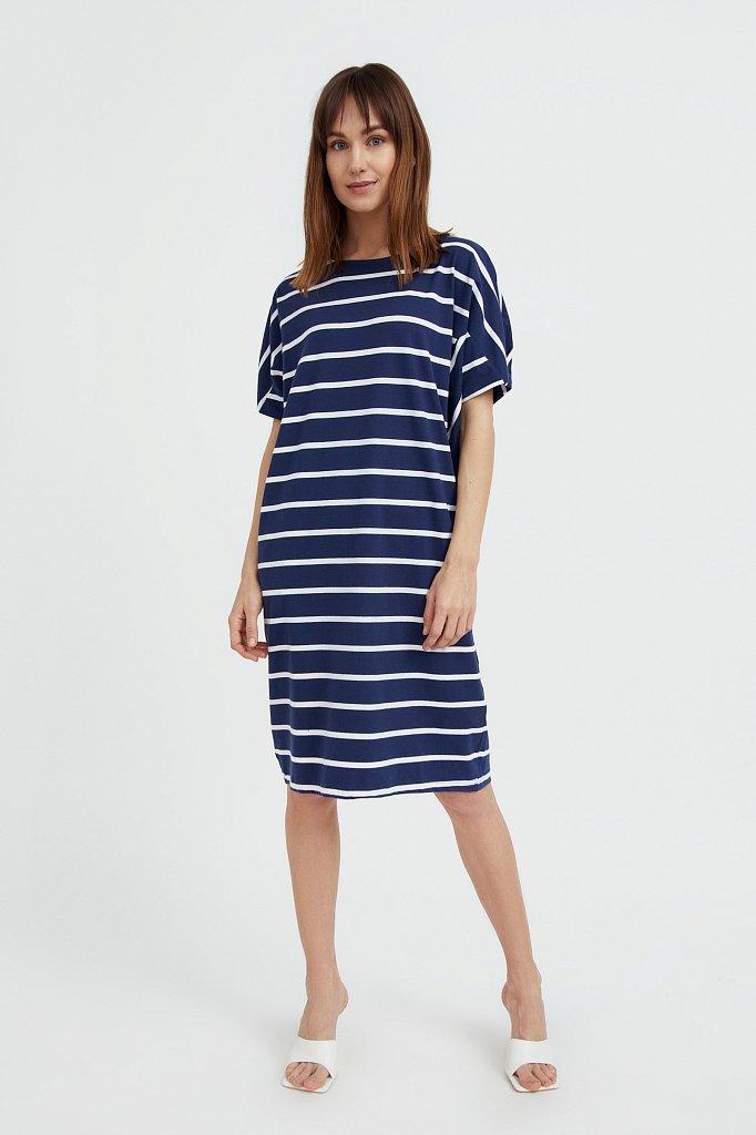 Полосатое платье из хлопка, Модель S21-14069, Фото №2