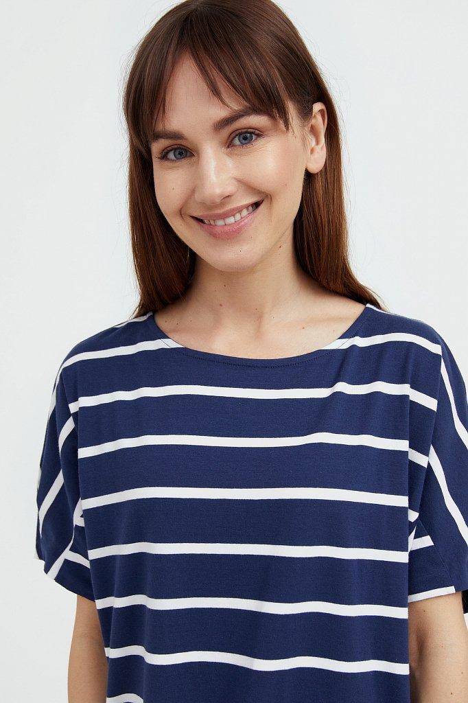 Полосатое платье из хлопка, Модель S21-14069, Фото №6