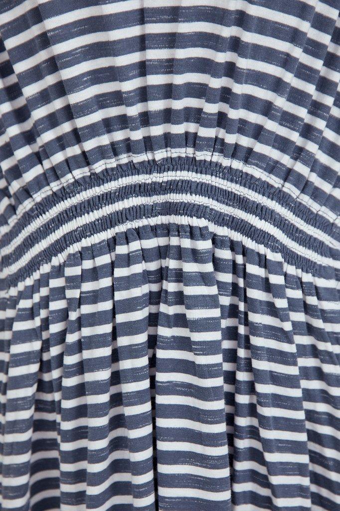 Полосатое платье с драпировкой, Модель S21-14072, Фото №5