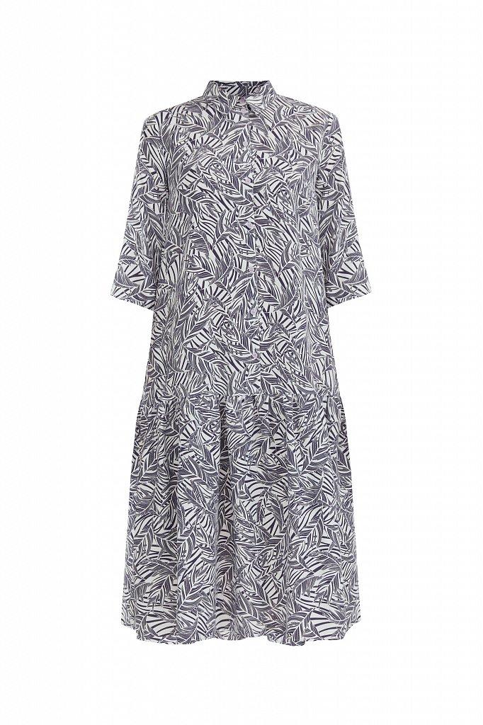Платье-миди с растительным узором, Модель S21-14077, Фото №7