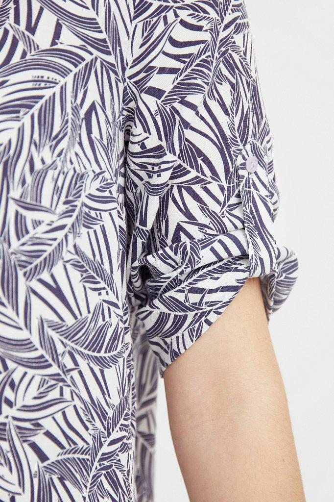 Платье-миди с растительным узором, Модель S21-14077, Фото №5