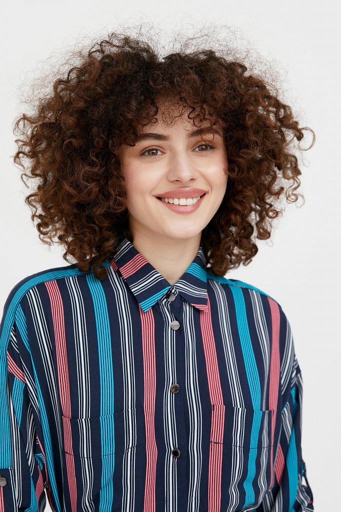 Платье-рубашка в яркую полоску, Модель S21-14078, Фото №6