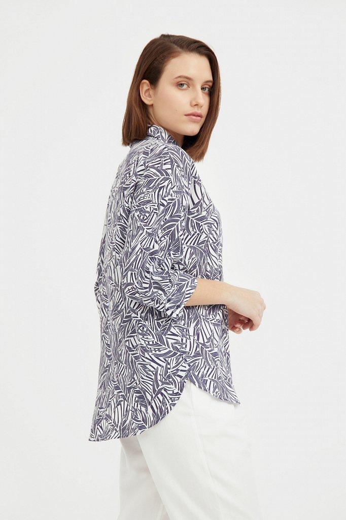 Рубашка с растительным орнаментом, Модель S21-14081, Фото №3