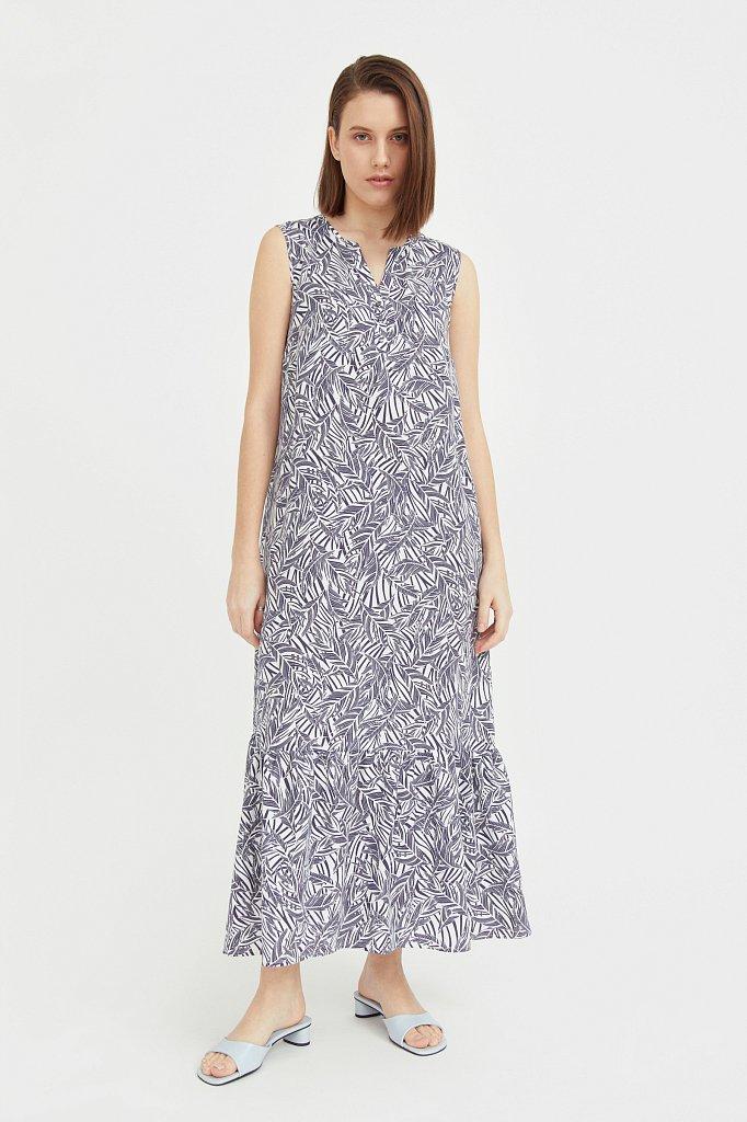 Платье-макси с растительным узором, Модель S21-14082, Фото №1