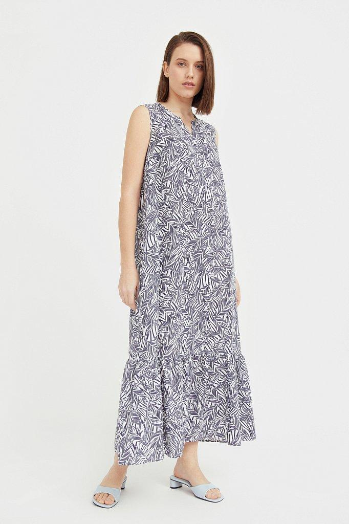 Платье-макси с растительным узором, Модель S21-14082, Фото №2