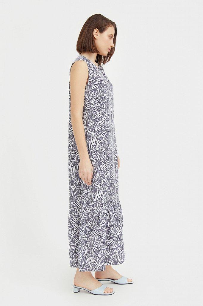 Платье-макси с растительным узором, Модель S21-14082, Фото №3