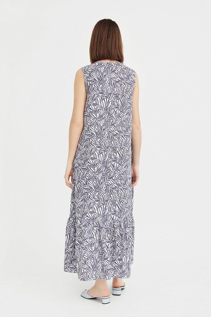 Платье-макси с растительным узором, Модель S21-14082, Фото №4