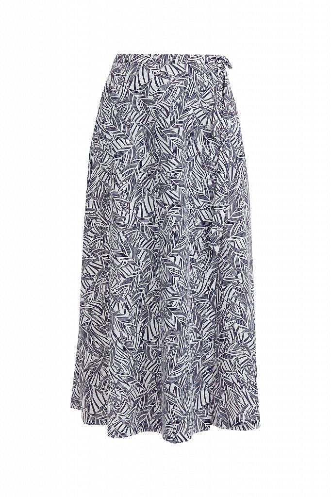 Принтованная юбка с запахом, Модель S21-14083, Фото №6