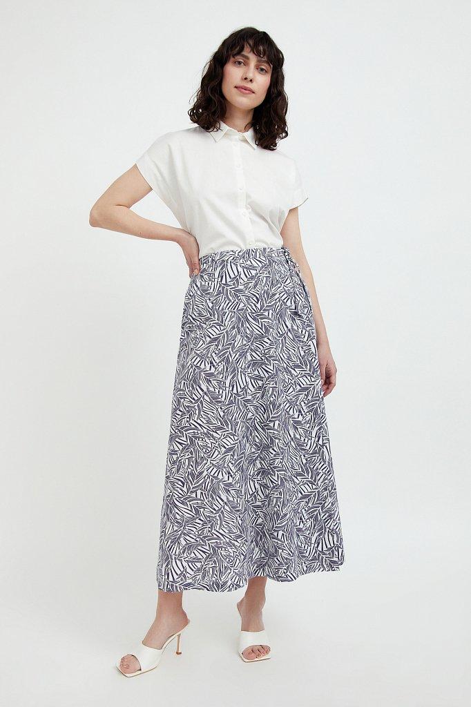 Принтованная юбка с запахом, Модель S21-14083, Фото №1