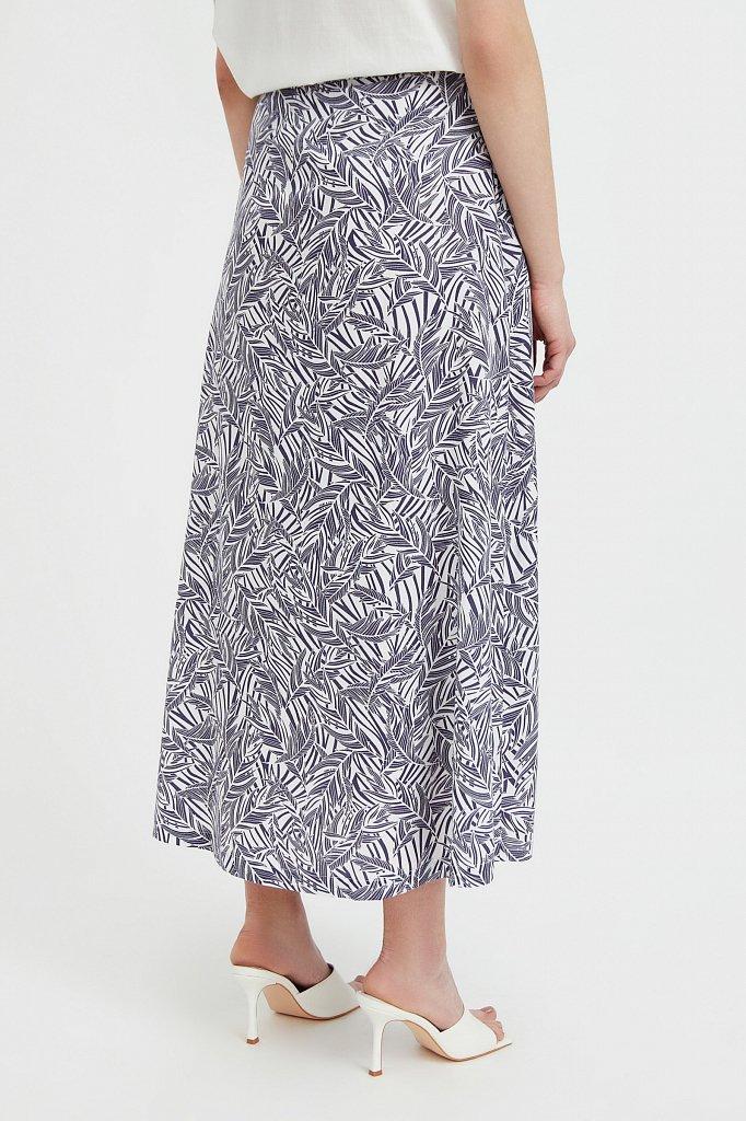 Принтованная юбка с запахом, Модель S21-14083, Фото №4