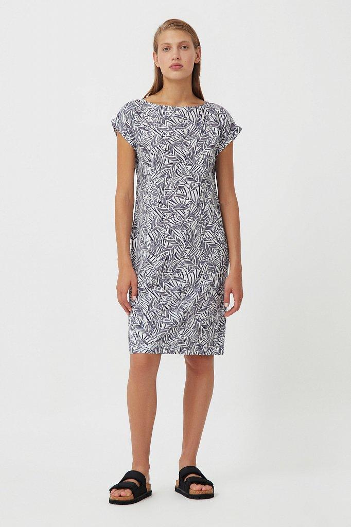 Прямое платье с растительным узором, Модель S21-14086, Фото №2