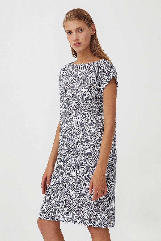 Прямое платье с растительным узором, Модель S21-14086, Фото №3