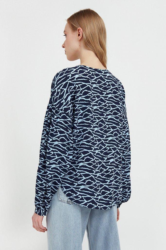 Свободная блуза с завязками-кисточками, Модель S21-14088, Фото №4