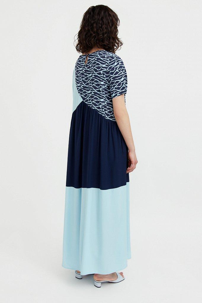 Комбинированное платье-макси, Модель S21-14089, Фото №4