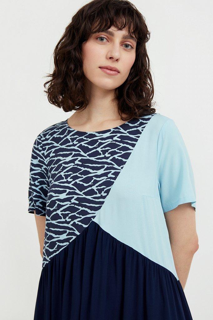 Комбинированное платье-макси, Модель S21-14089, Фото №6