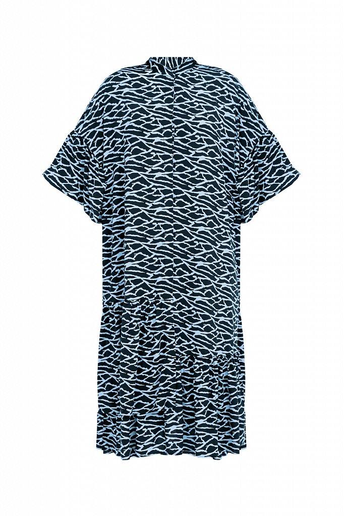 Платье-миди с асимметричными воланами, Модель S21-14090, Фото №7