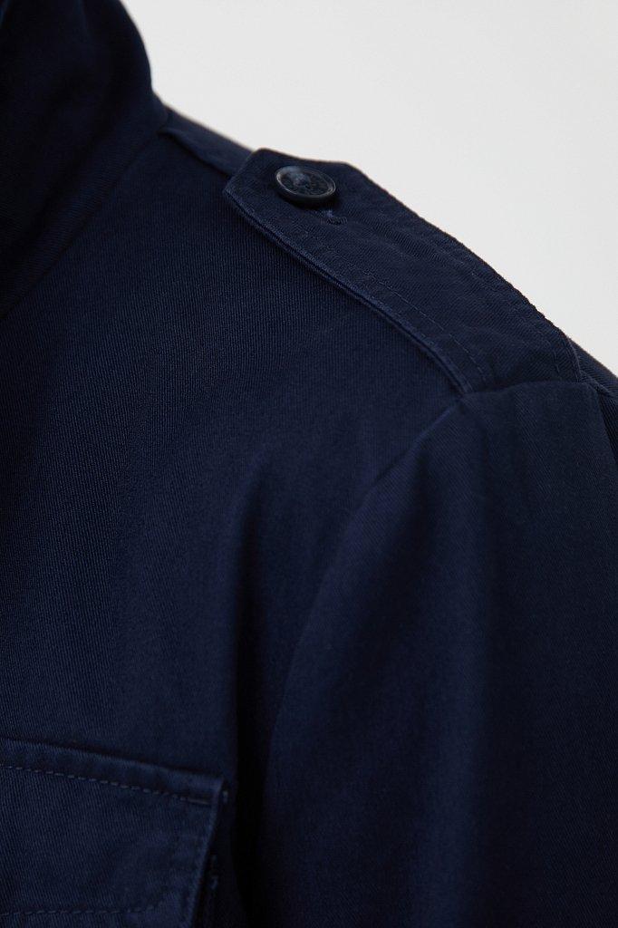 Хлопковая ветровка с накладными карманами, Модель S21-22002, Фото №5