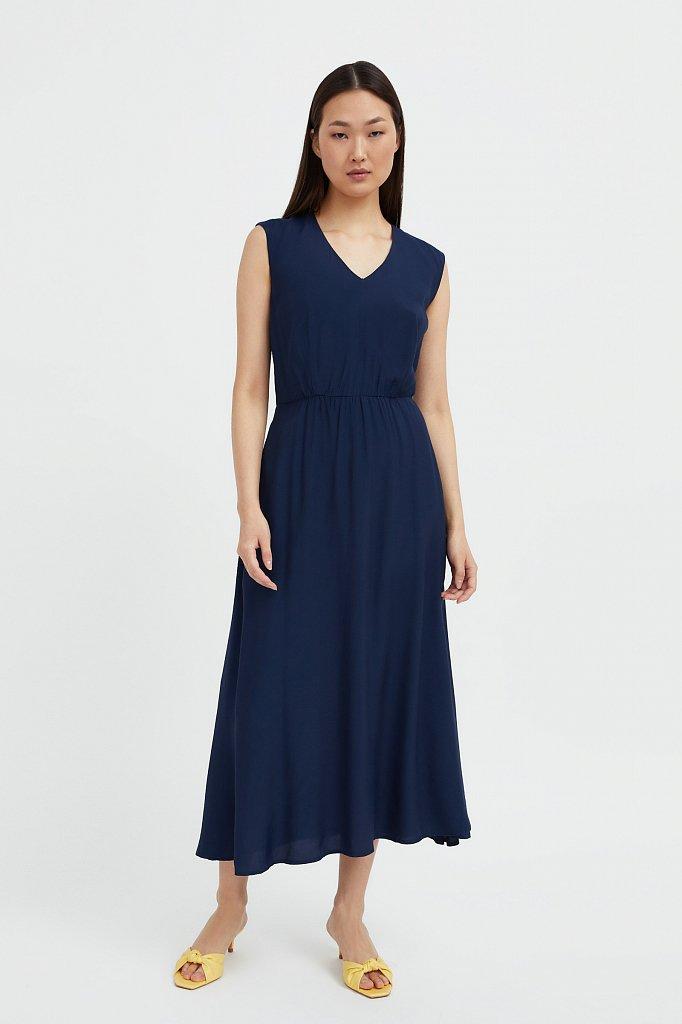 Платье-миди с V-образным вырезом, Модель S21-32009, Фото №2