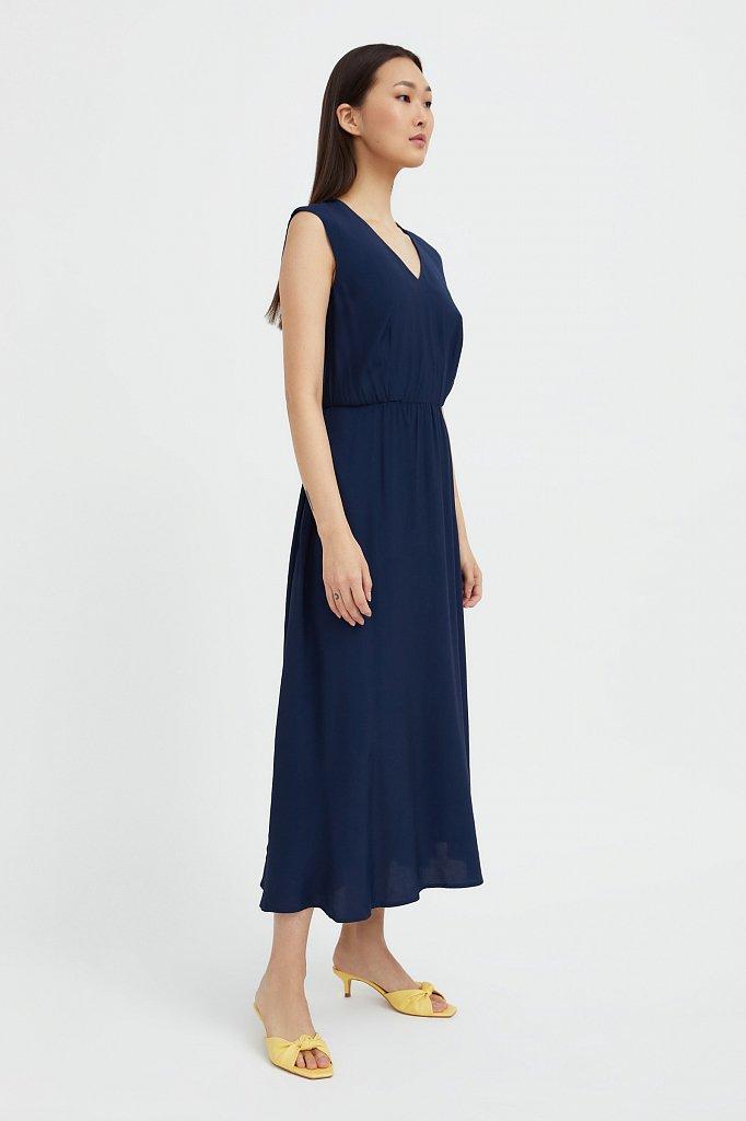 Платье-миди с V-образным вырезом, Модель S21-32009, Фото №3