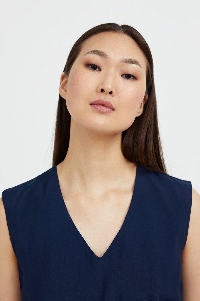 Платье-миди с V-образным вырезом, Модель S21-32009, Фото №6