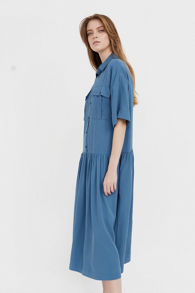 Платье-миди с драпировкой, Модель S21-12054, Фото №3