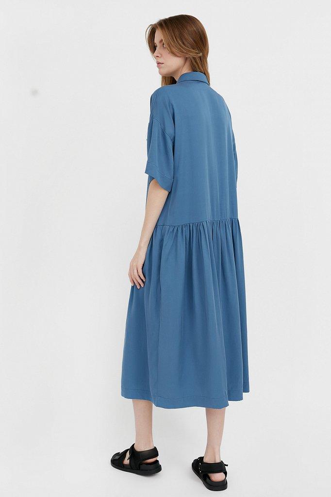 Платье-миди с драпировкой, Модель S21-12054, Фото №4