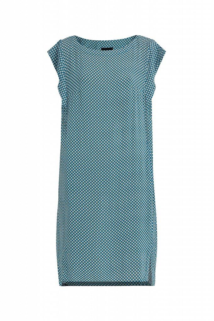 Платье из вискозы с геометричным принтом, Модель S21-14080, Фото №7