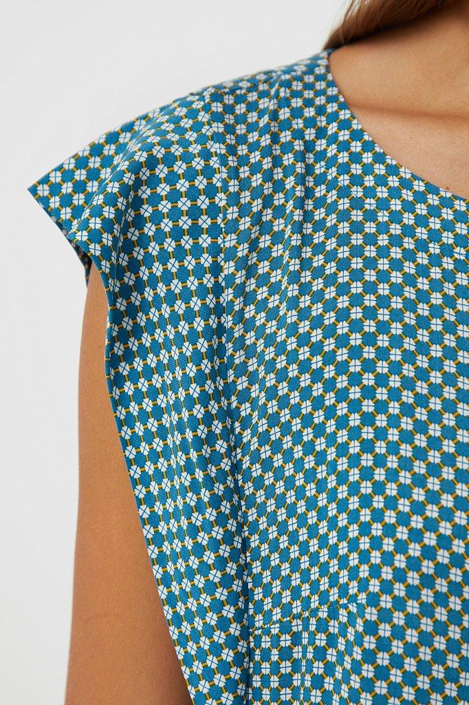 Платье из вискозы с геометричным принтом, Модель S21-14080, Фото №5